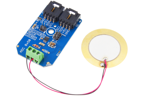 Sound Sensor for Detecting Noise Knock Vibration or Shock using I2C Piezo Sensor