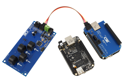 4-Channel On-Board AC Current Monitor for I2C