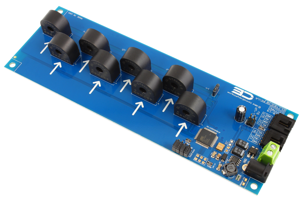8 Channel On Board Ac Current Monitor For I2c