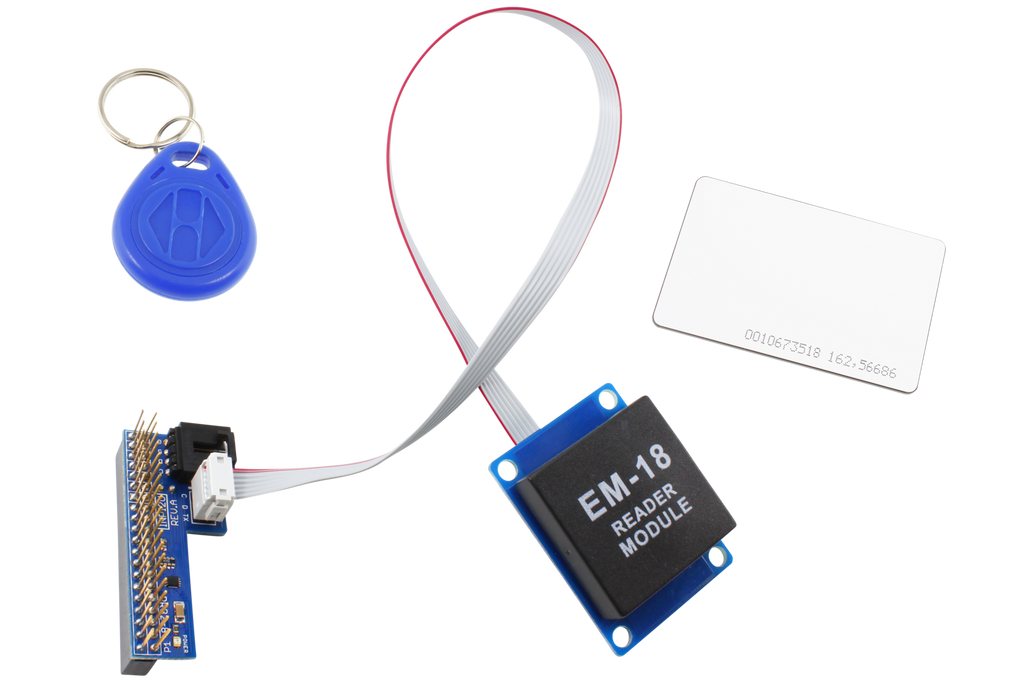 Raspberry Pi 2 & 3 Compatible I2C Shield with RFID Receiver