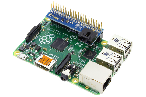 Raspberry Pi 2 & 3 Compatible Shield with Inward Facing I2C Port