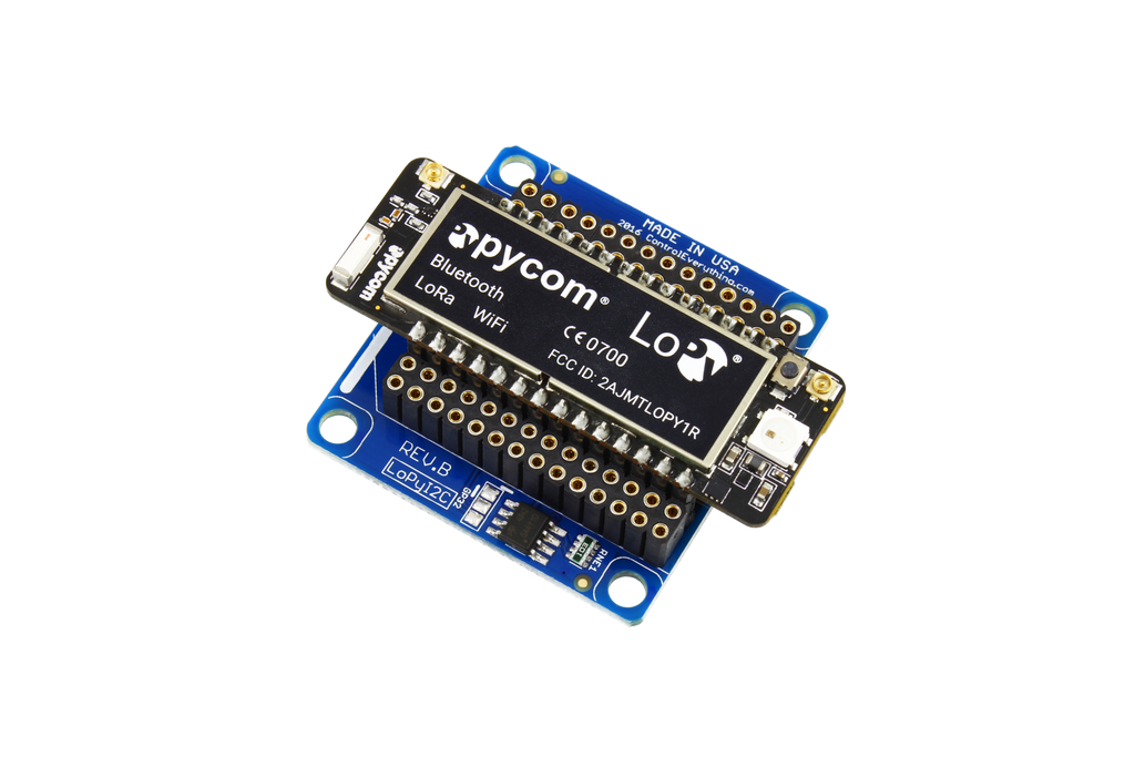 I2c Shield For Wipy2 Amp Lopy With Usb Programming Port