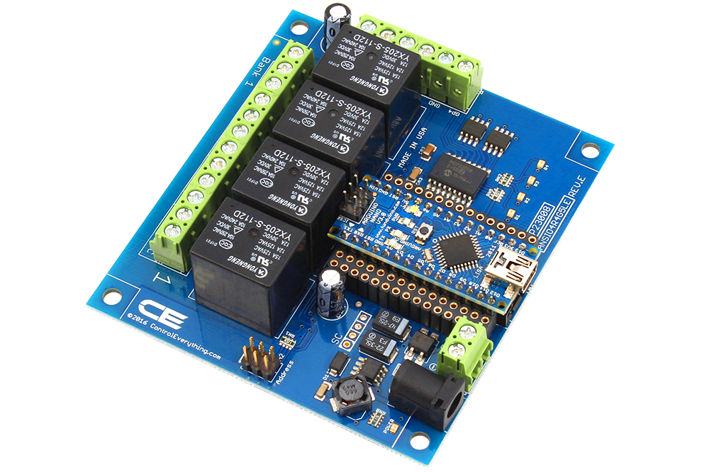 Channel relay controller for arduino nano