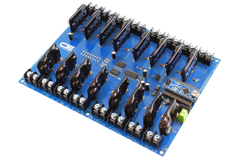 Solid-State Relay Shield for Arduino Nano I2C 16-Channel SPST Host Controller