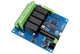 Relay Shield for Arduino Micro I2C 4-Channel DPDT 5-Amp 4 Programmable Digital Input Output
