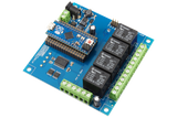 Relay Shield for Arduino Micro I2C 4-Channel SPDT 10-Amp 4 Programmable Digital Input Output