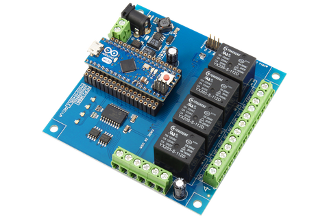 4-Channel Relay Controller for Arduino Micro