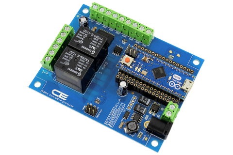 Relay Shield for Arduino Micro I2C 2-Channel SPDT 10-Amp 6 Programmable Digital Input Output