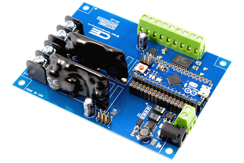 Solid-State Relay Shield for Arduino Micro I2C 2-Channel SPST Host Controller + 6 Programmable GPIO