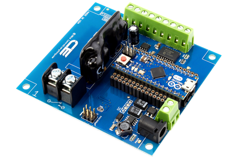 Solid-State Relay Shield for Arduino Micro I2C 1-Channel SPST Host Controller + 7 Programmable GPIO