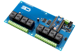 Relay Shield for Arduino Micro I2C 8-Channel SPDT 10-Amp
