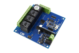 Relay Shield for Particle Electron I2C 4-Channel SPDT 10-Amp with Cellular and USB Interface + 4 Programmable GPIO