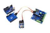 Arduino Uno Gas Sensor and 4 Relay Shield 1 Amp with 4 GPIO