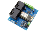 Relay Shield for Particle Electron I2C 2-Channel SPDT 20-Amp with Cellular and USB Interface + 6 Programmable GPIO