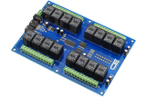 Control Lights, Motors, Pumps, Valves and More with a 16-Channel Relay Shield