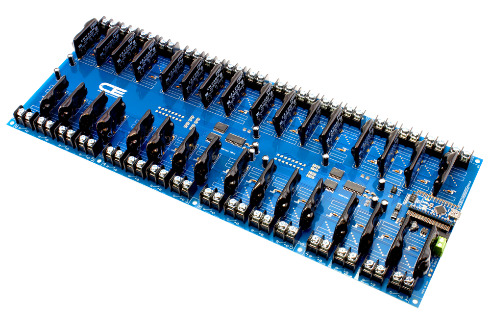 Solid State 32-Channel Relay Controller for Arduino Nano