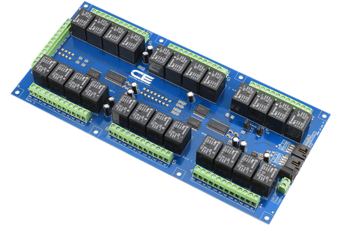 I2C Relay Board 24-Channel with 8 GPIO