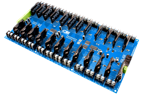 Solid-State Relay Shield Cross-Planform I2C 24-Channel SPST Host Controller + 8 Programmable GPIO