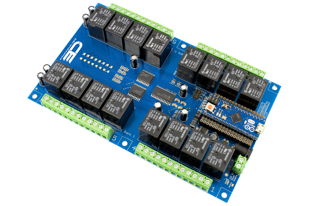 16-Channel Relay Controller for Arduino Micro