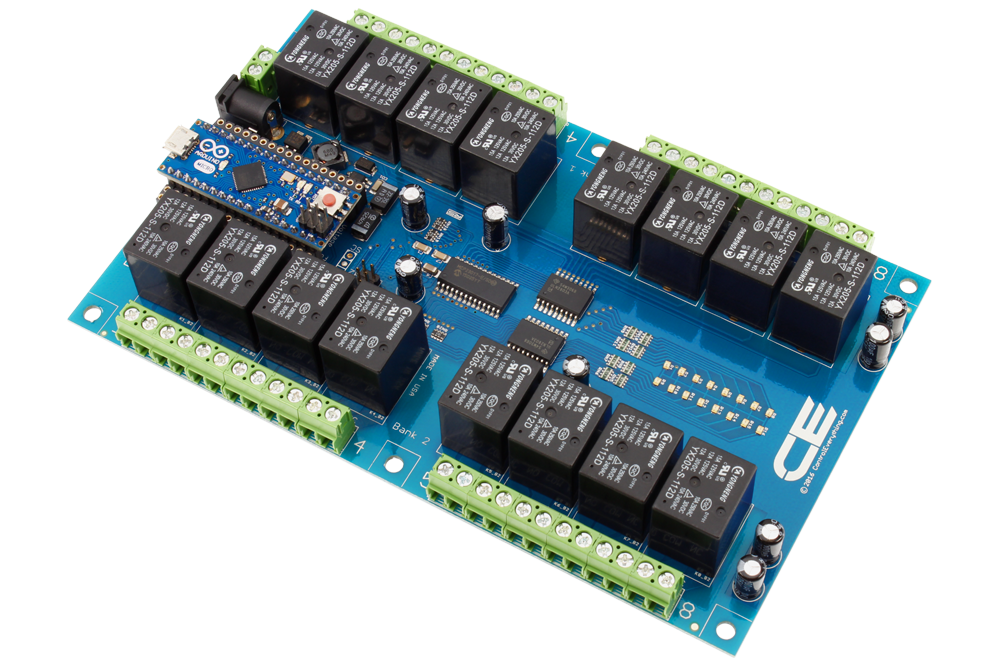 16 Channel Relay Controller For Arduino Micro
