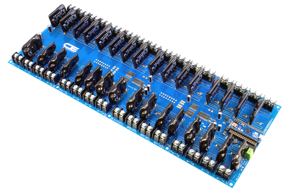 Solid State 32-Channel Relay Controller for Arduino Micro
