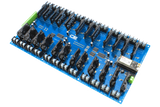 Solid-State Relay Shield for Particle Electron I2C 24-Channel SPST Host with Cellular and USB Interface + 8 Programmable GPIO