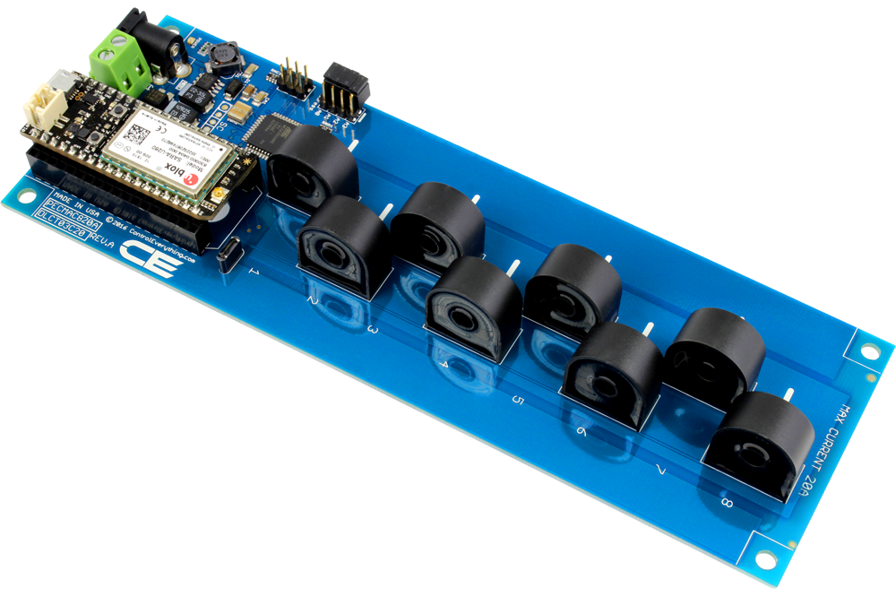 8 Channel On Board Ac Current Monitor For Iot