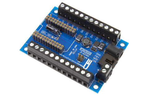 Particle Photon Compatible I2C Shield with Screw Terminals and Power Supply Connector