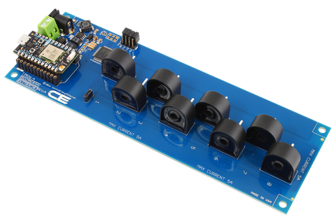 DLCT03C20 Current Monitoring Controller 8-Channel 5-Amp 95% Accuracy with WiFi Connectivity using Particle Photon