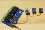Arduino Relay Shield with TCN75A Sensor and I2C Mini Module Expansions