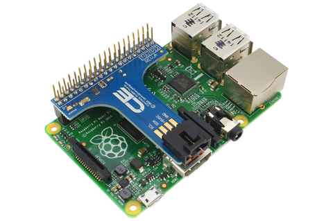 Raspberry 2 & 3 Compatible Shield with Outward Facing I2C