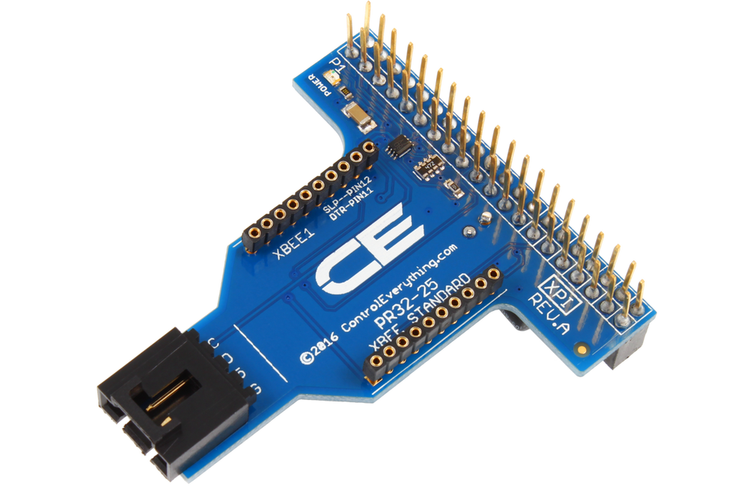 Raspberry Pi 2 & 3 Compatible Shield with Outward Facing I2C and Wireless  Interface Port