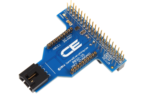 I2C Shield for Raspberry Pi 2 & 3 with Outward Facing I2C and XBee Port