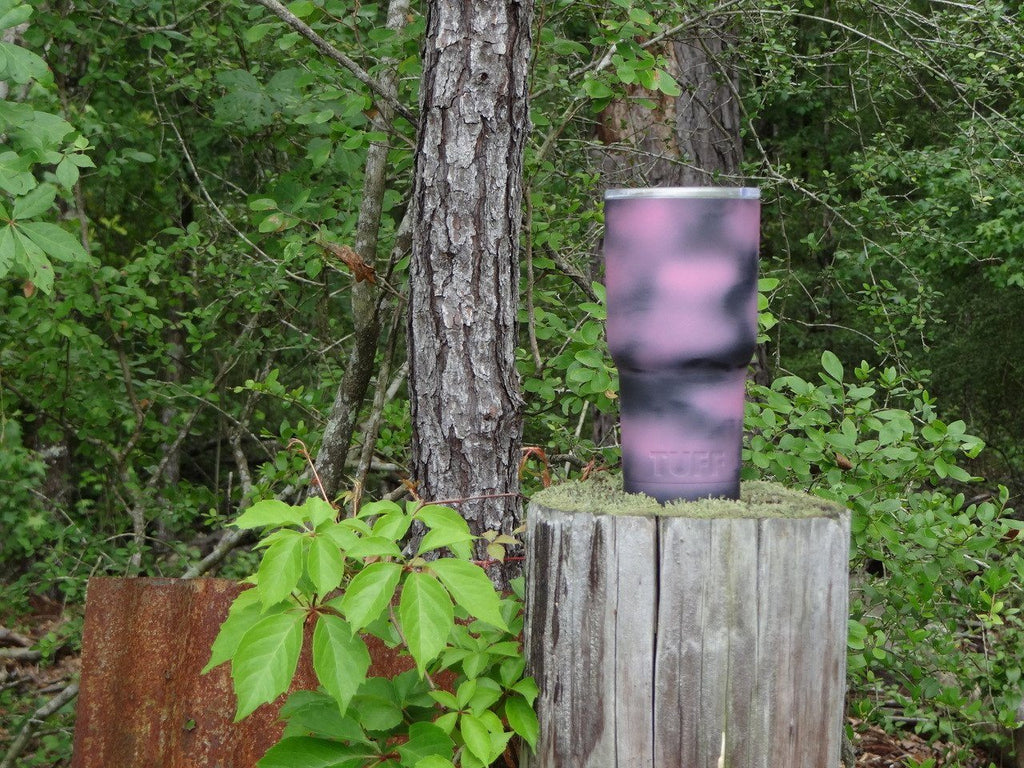 CUP Multicolored - PINK / BLACK DISTRESSED (MATTE) - 30oz TUFF CUP