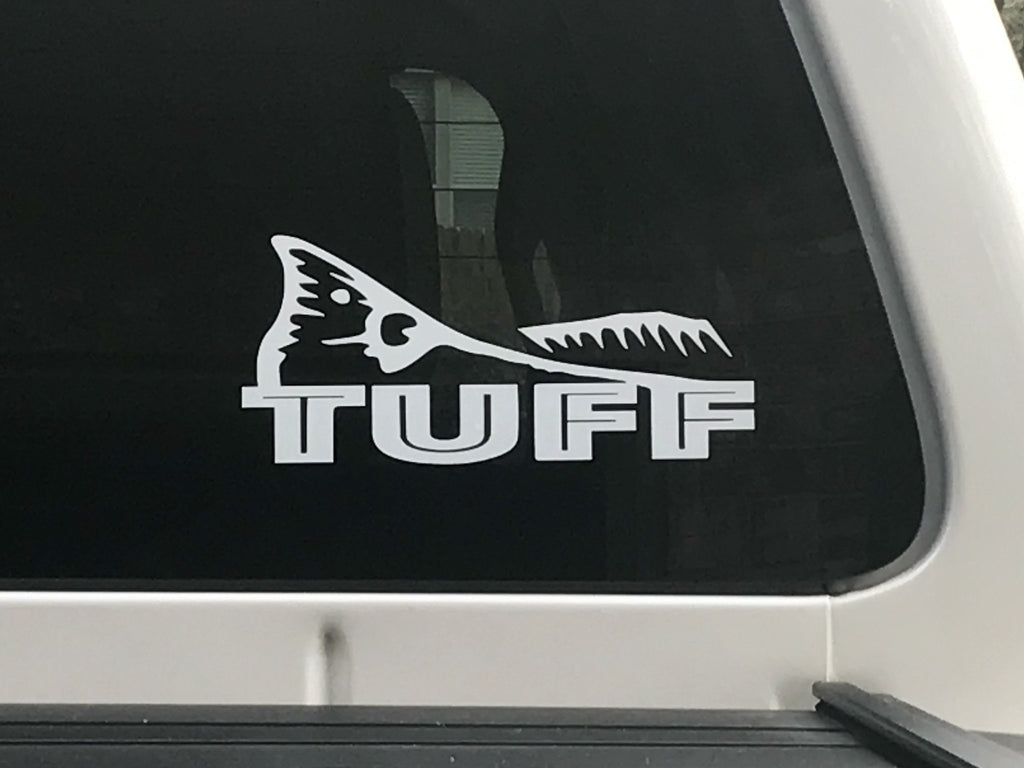 Decal - TUFF FISH TAIL VINYL DECAL
