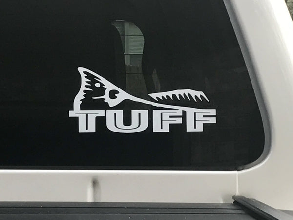 TUFF FISH TAIL VINYL DECAL