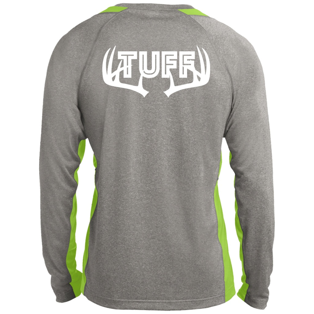 T-Shirts - TUFF Buck Men's LS Heather Poly Shirt