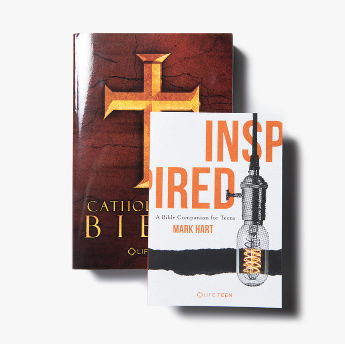 Catholic Teen Bible (Paperback) + Inspired Bundle