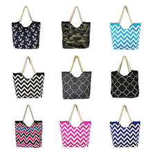 High Quality Rope Handle Tote Beach Bag