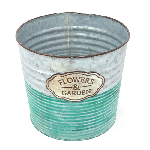 Galvanized Planter Pot Indoor and Outdoor Decoration