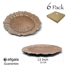 Allgala 13-Inch 6-Pack Heavy Quality Round Charger Plates-Reef