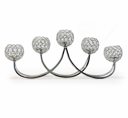 Allgala 5 Bowls Tea-light Crystal Candelabra Candle Holder