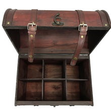 Allgala Wooden Wine 6-Bottle Chest with Antique Finish