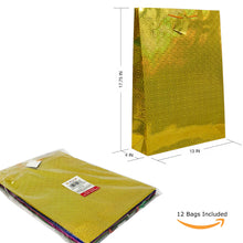 Allgala 12 pc hologram gift bags for everyday occasion