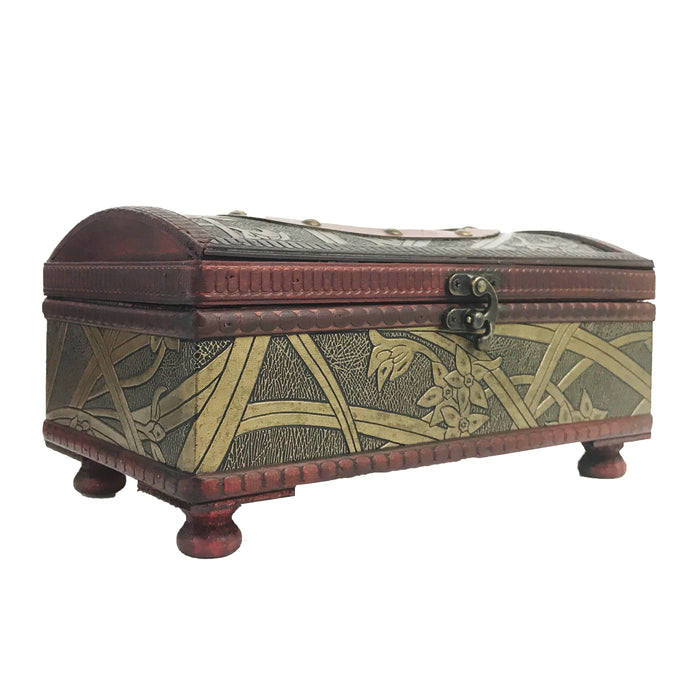 Allgala Antique Wooden Tissue Box Holder, Arch Top Style