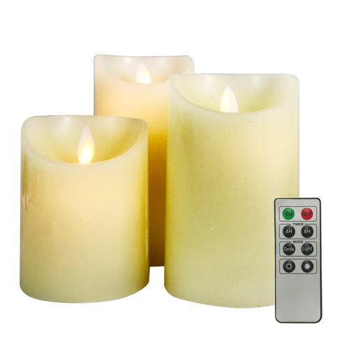 Allgala Flickering and Swing Flame LED Candles 3-PC Set (4