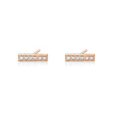 Diamond bar earring in 14k rose gold