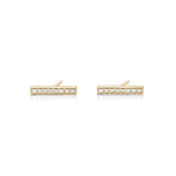 Diamond Bar Earring (8 diamonds)