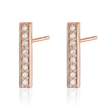 Diamond Bar Earring