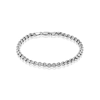 14k white gold rollo bracelet